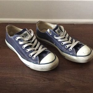 Navy Chuck Taylor All Star Sneakers. Size: 7